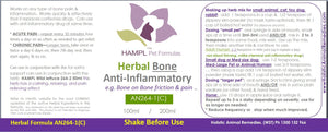AN264(C) - Herbal Bone Anti-inflammatory, Bone on Bone Friction, causing joint pain.  A non-additive drug and non-blood thinning safe alternative to chemical drugs for all species and ages)