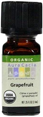Aura Cacia Organic Grapefruit Essential Oil .25 fl oz.
