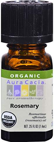 Aura Cacia Organic Rosemary Essential Oil .25 fl oz.