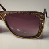 ULTRA Sunglass with Sparleling Rhinstones France Circa 1980