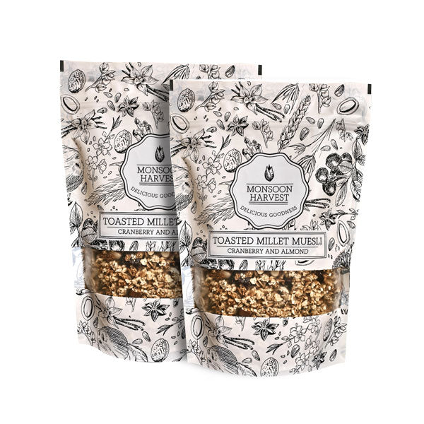Toasted Millet Muesli - Cranberry & Almond 2 x 250 g