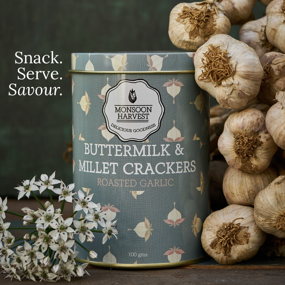 Buttermilk & Millet Crackers - Assorted Variety Pack 3 x 100 g