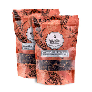 Toasted Millet Muesli - Dark Chocolate with Orange Peel 2*250 gm