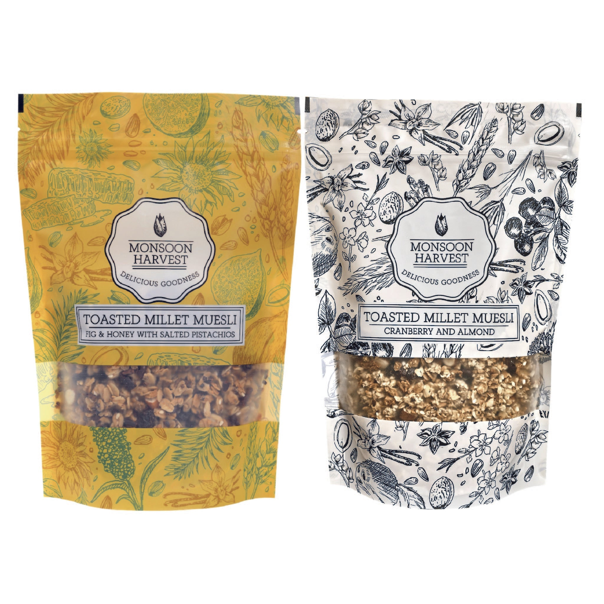 Toasted Millet Muesli - Dry Fruits Aficionados Variety Pack 2 x 250 g