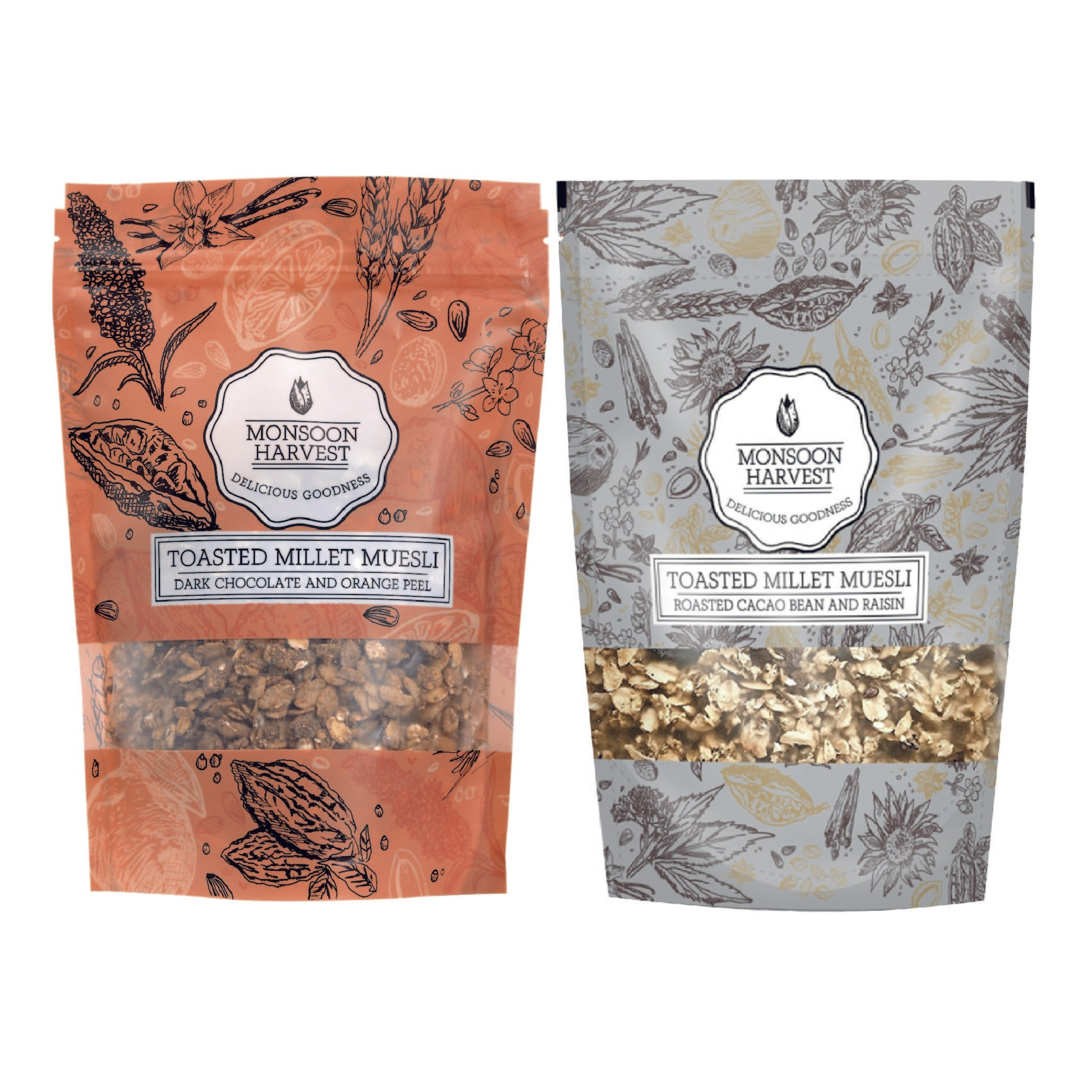 Toasted Millet Muesli - Chocoholics Variety Pack 2 x 250 g