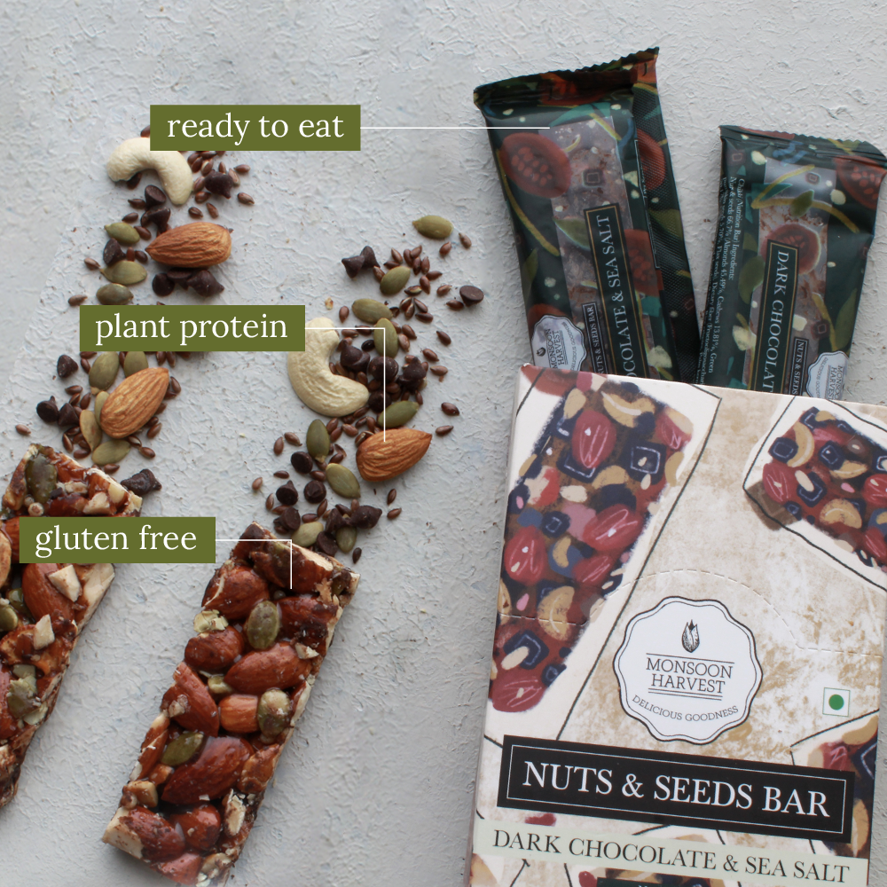 Nuts & Seeds Bar - Assorted Variety Pack 2 x 180 g