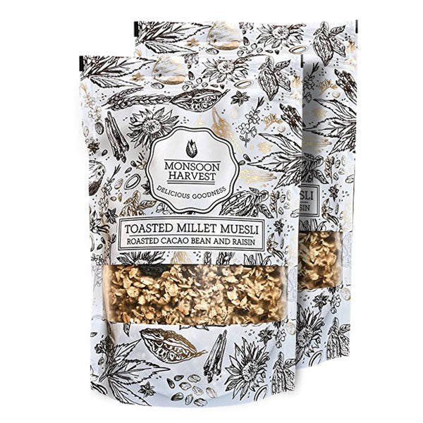 Toasted Millet Muesli - Cacao Bean & Raisin 2*250 gms