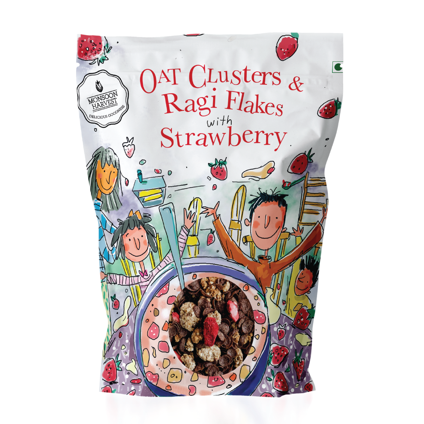 Breakfast Cereal - Oat Clusters & Ragi Flakes with Strawberry - 1KG