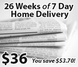 26 Weeks of 7 Day Home Delivery