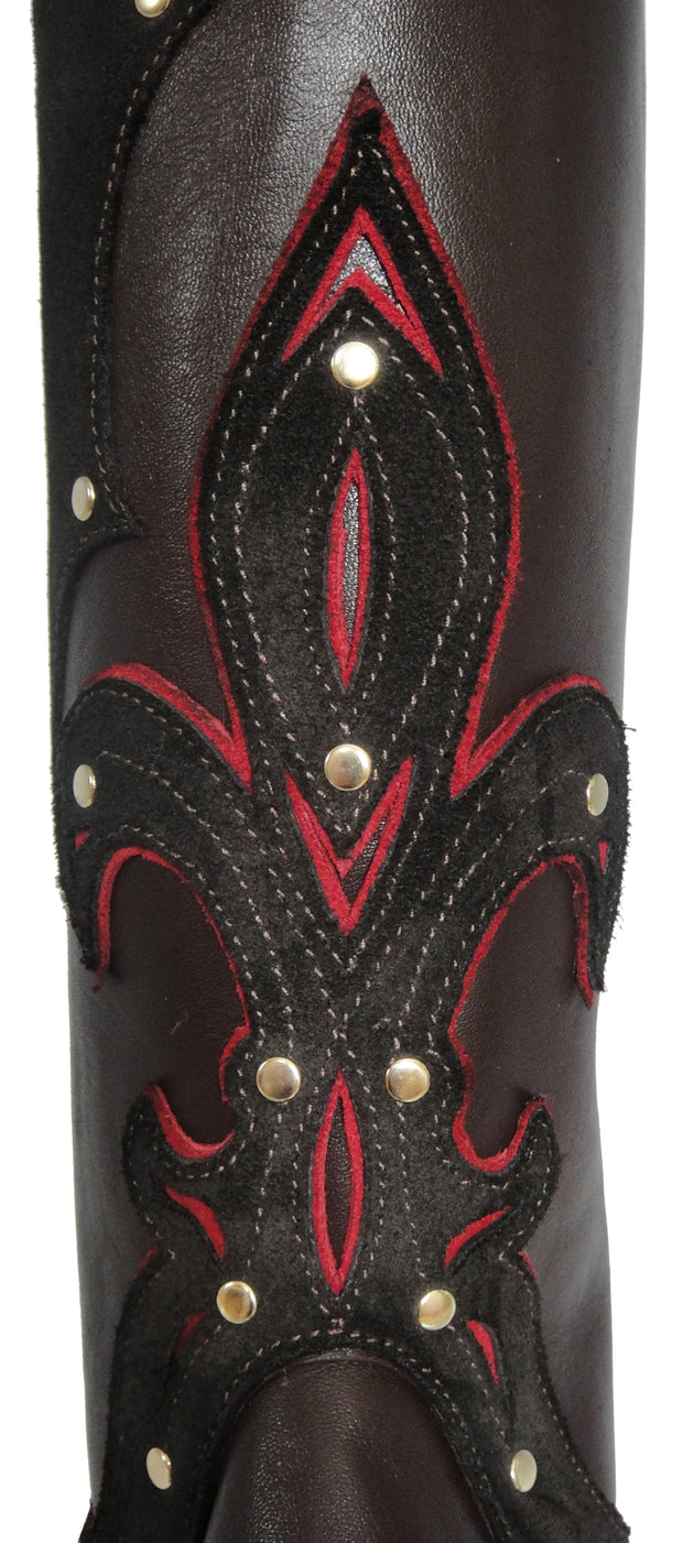 The Classy Cowgirl Tobacco/Red - Custom Order