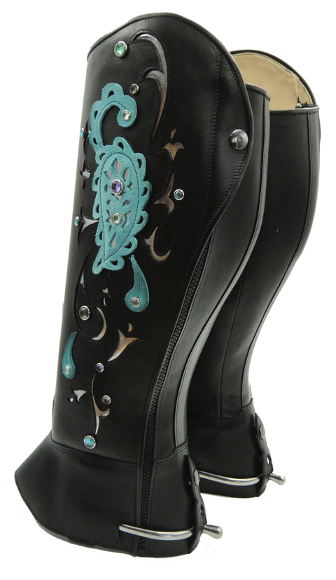 Paisley Dressage Teal - Custom Order