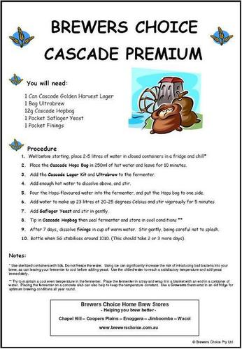 Brewers Choice Cascade Premium Style