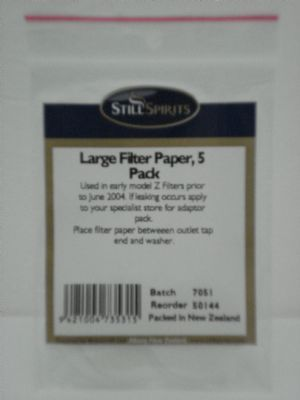 Filter Papers Large
