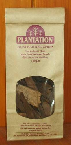 Oak chips Plantation Rum Barrel