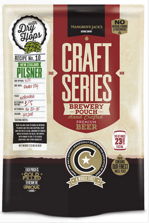Mangrove Jack's Craft Series NZ Pilsner with Dry Hops