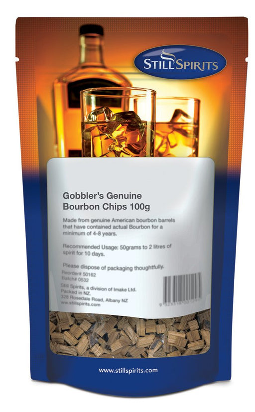 Gobbler's Genuine Bourbon Chips - 100g