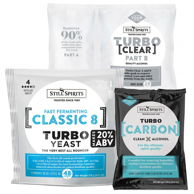 Turbo Classic Triple Pack - Yeast, Carbon, Clear