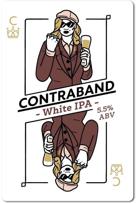 CONTRABAND (WHITE IPA) IN STORE ONLY