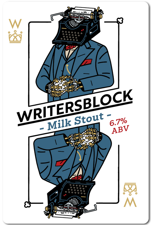 WRITERS BLOCK (MILK STOUT) IN STORE ONLY