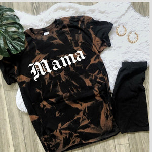 NEW Bleached Mama Soft Tee shirt top black S-4X