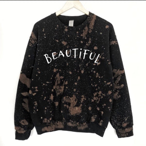 Beautiful Bleached Out Graphic Sweatshirt LATASHANICOLE