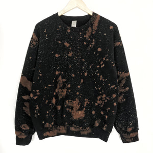 Black Oversized Bleached Out Sweatshirt LATASHANICOLE