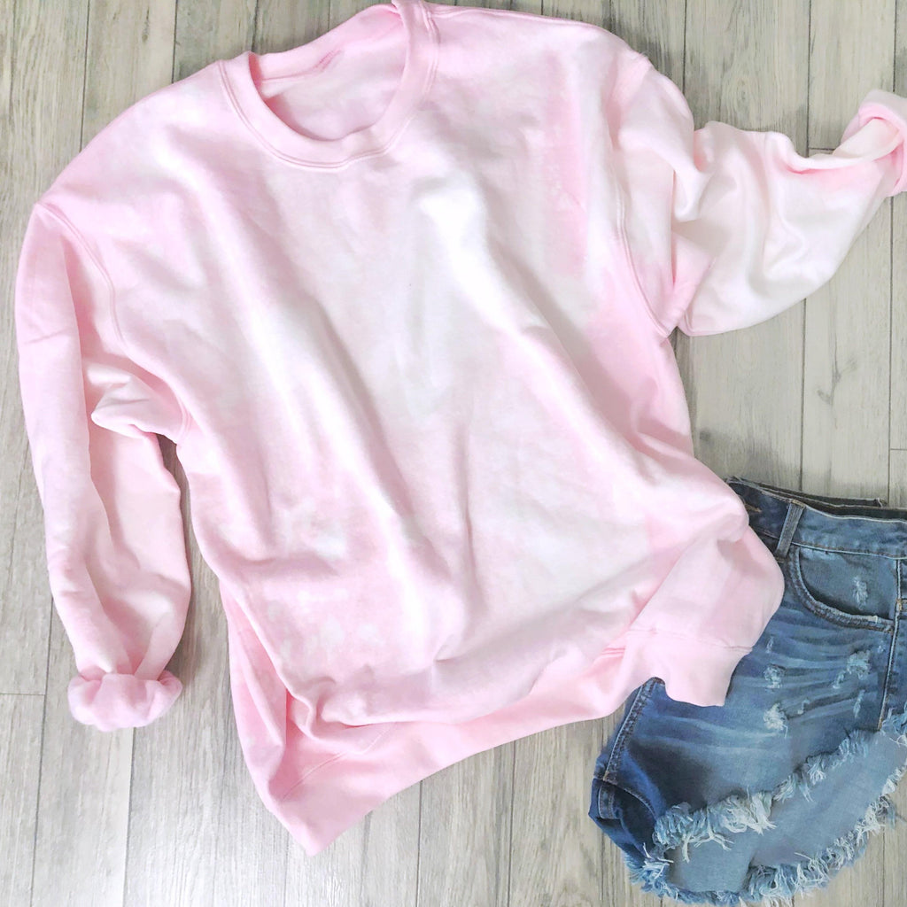 Bleached Out Pink Sweater Top LATASHANICOLE