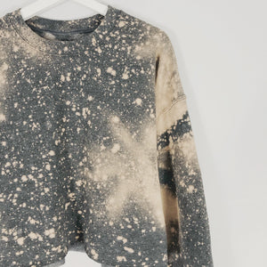 Galaxy oversized bleached crop top LATASHANICOLE