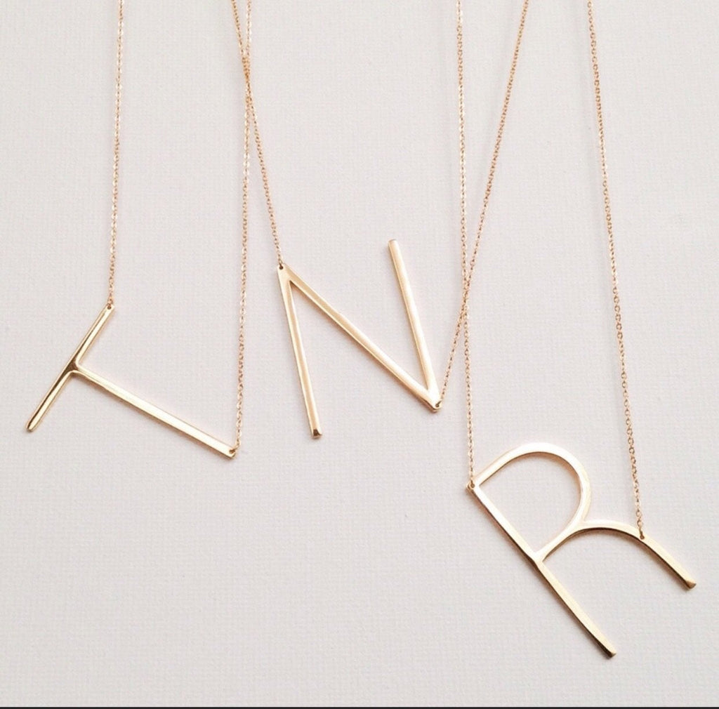 Large Initials Necklaces LATASHANICOLE
