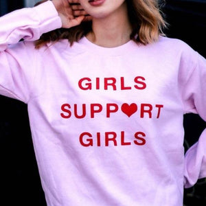 NEW Girls Support Girls Long Sleeve Tee LATASHANICOLE