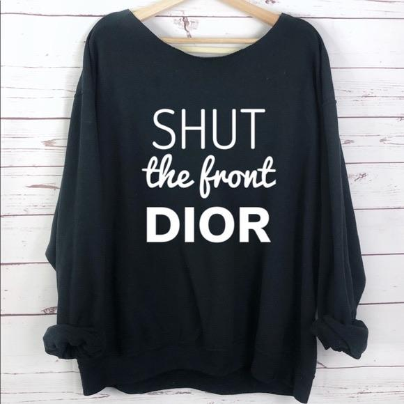 Shut the front Dior Oversized graphic sweatshirt LATASHANICOLE