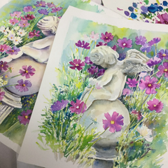 angel garden prints