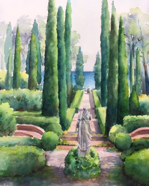 Garden at Santa Clotilde, CostaBrava 70 x 50