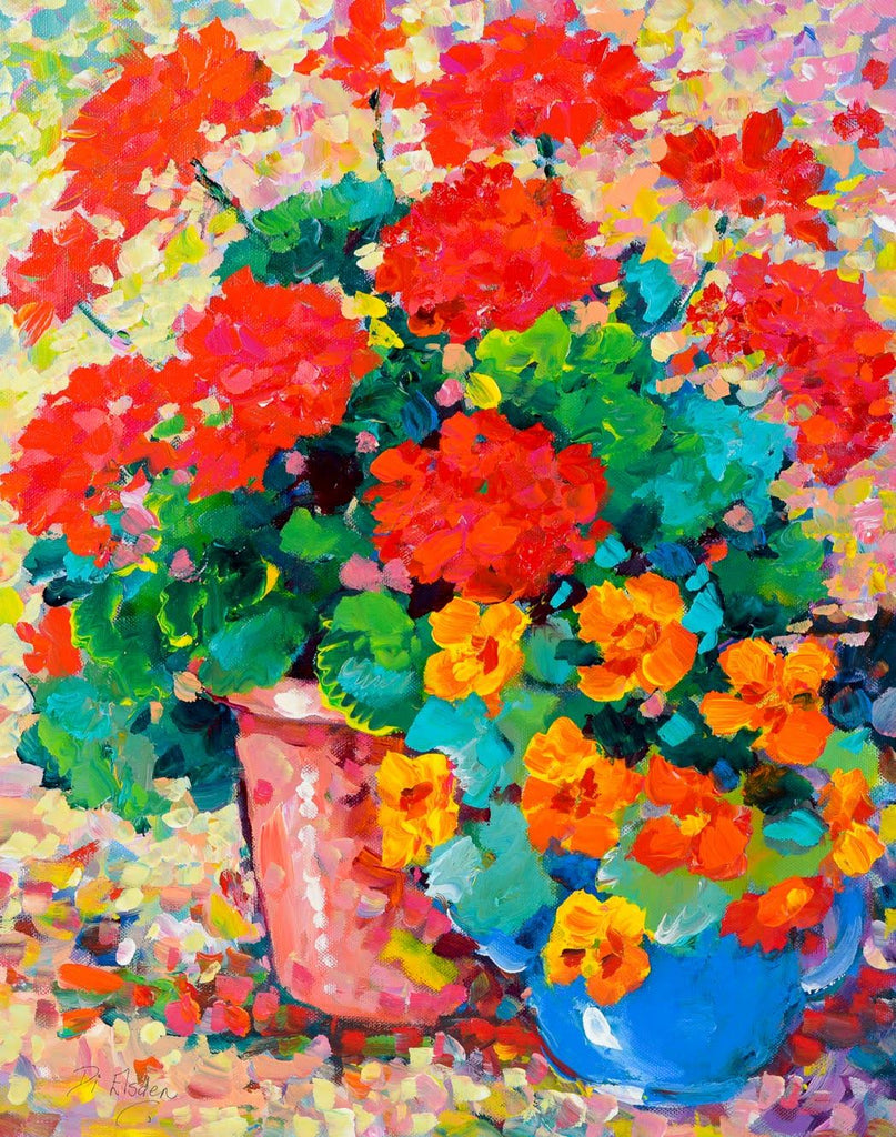 Red Geraniums - 51 x 41cm