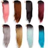Ombre Green Straight Long Synthetic Wigs
