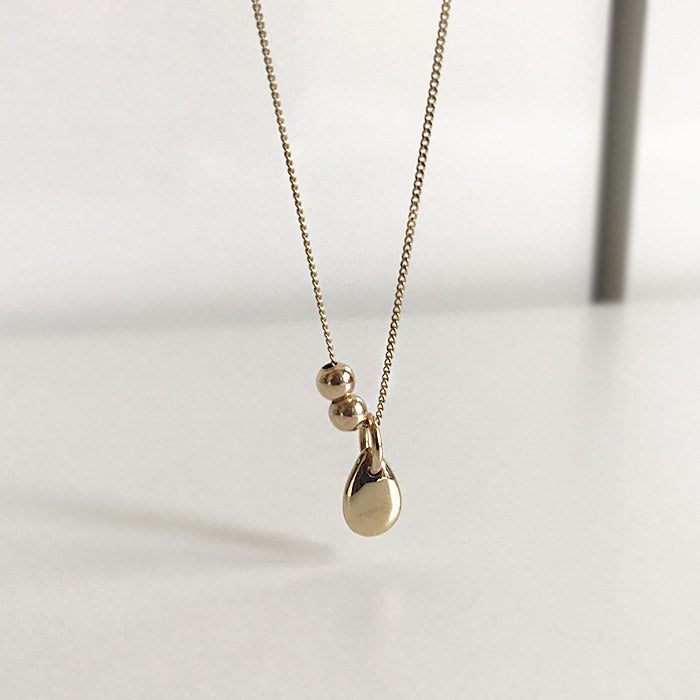925 silver water drop Necklace
