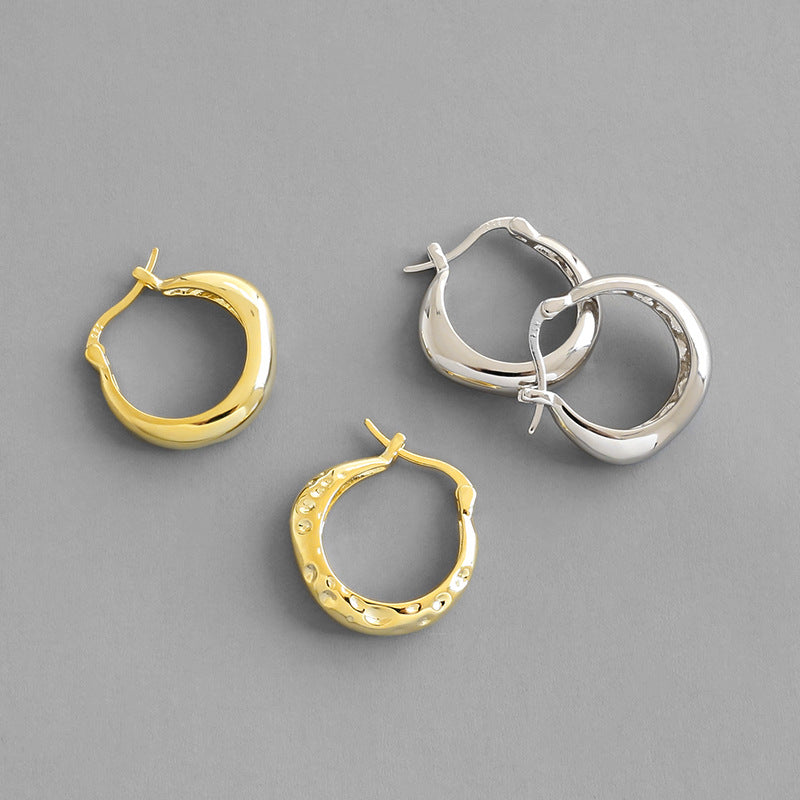 S925 sterling silver hoop earrings