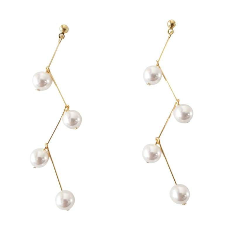 Zig Zag Pearl Earrings