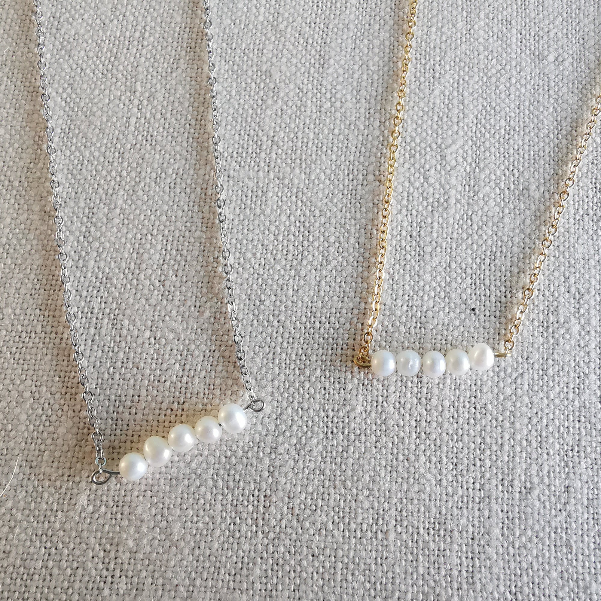 Handmade Dainty Natural Freshwater Pearl Necklace