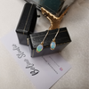 Captivating 18k Gold Oval Solid Opal Earrings