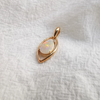 Dainty 18k Solid Crystal Opal Pendant Necklace