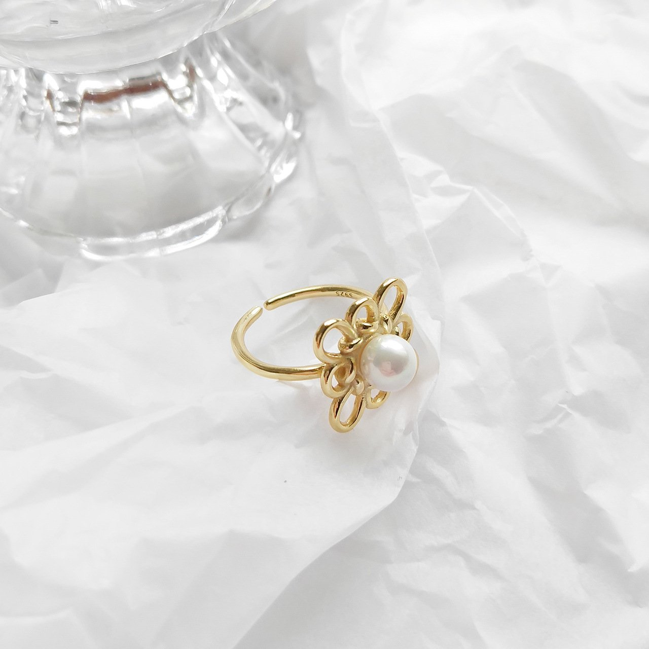 S925 Sterling Silver flower ring - Bolino Studio - Minimalist Jewellery