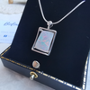 Freeform 14k White Gold Solid Opal Lightning Ridge Pendant Necklace