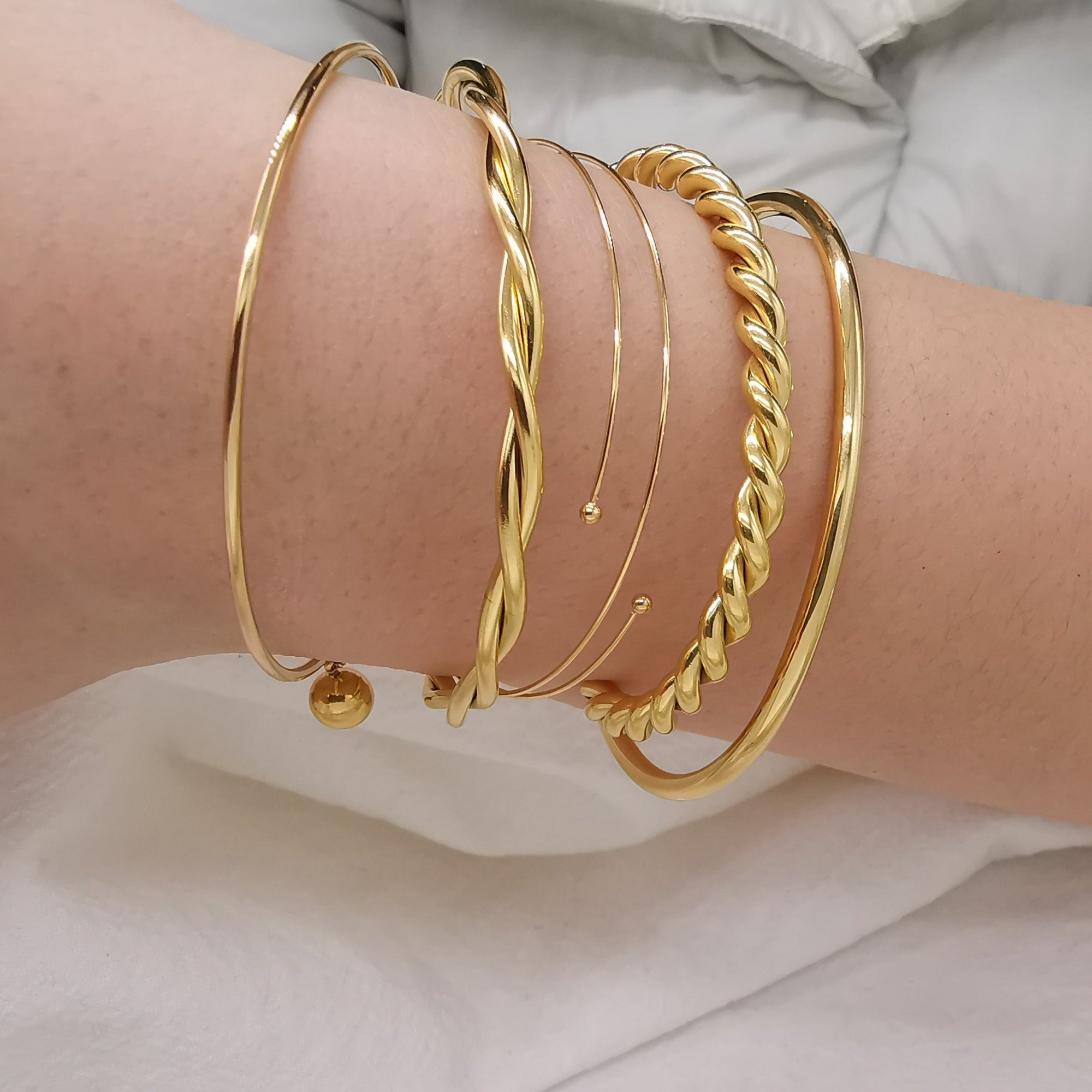 Five simple Bracelets - Bolino Studio - Minimalist Jewellery