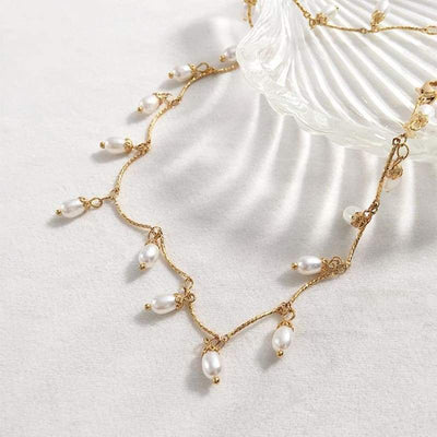 Graceful Vintage Pearl Chic Necklace - Bolino Studio