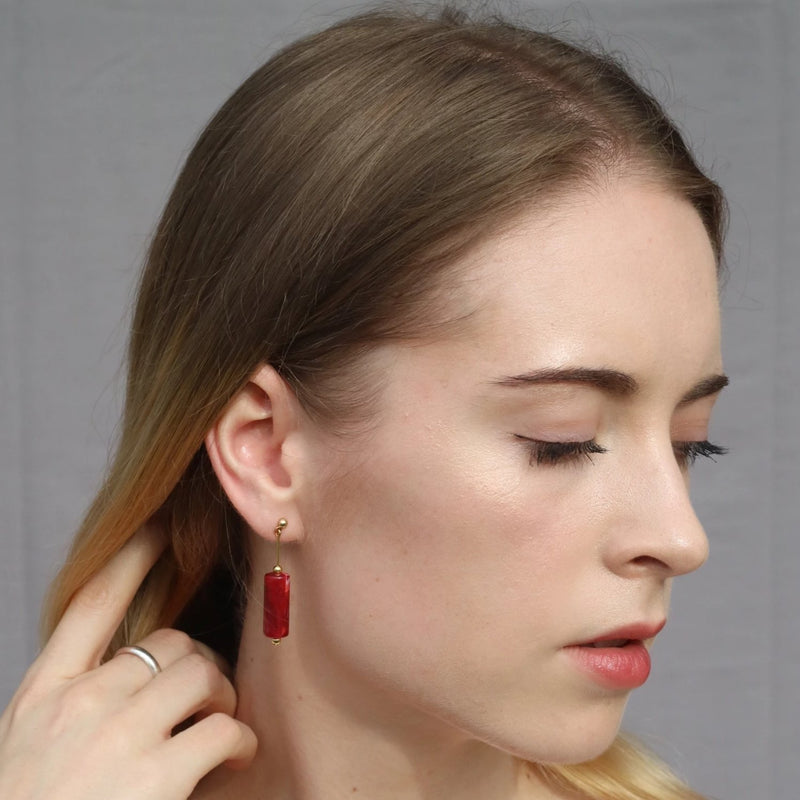 Artistic Candle Earrings - Bolino Studio