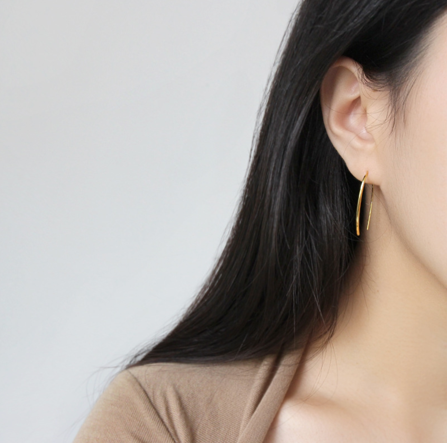 S925 U-Shaped Earrings