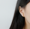 S925 simple earring studs