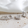 Huggie Square Earrings S925 Sterling Silver