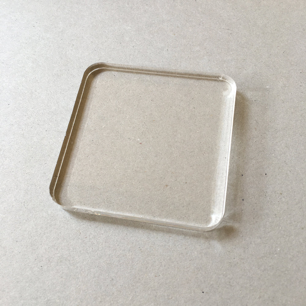 Clear Acrylic Block - Medium 7cm